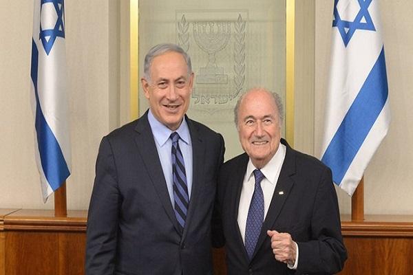 نتانياهو مع بلاتر
