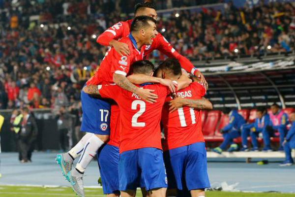 لاعبو المنتخب التشيلي