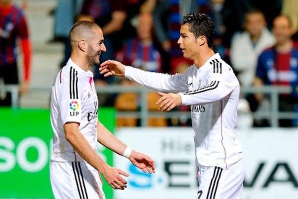 رونالدو و بن زيمة يقضيان أطول فترة في ريال مدريد