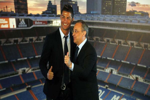 رئيس ريال مدريد ونجمه البرتغالي كريستيانو رونالدو