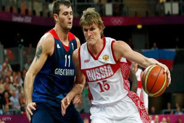 حظر على كرة السلة الروسية