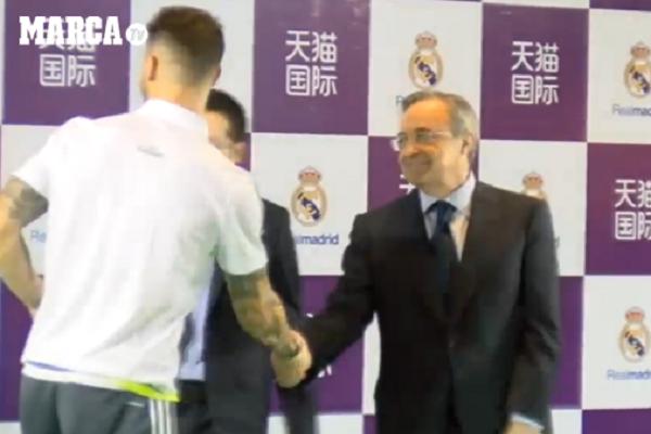 راموس يتجاهل رئيس ريال مدريد ويثير الجدل حول مستقبله