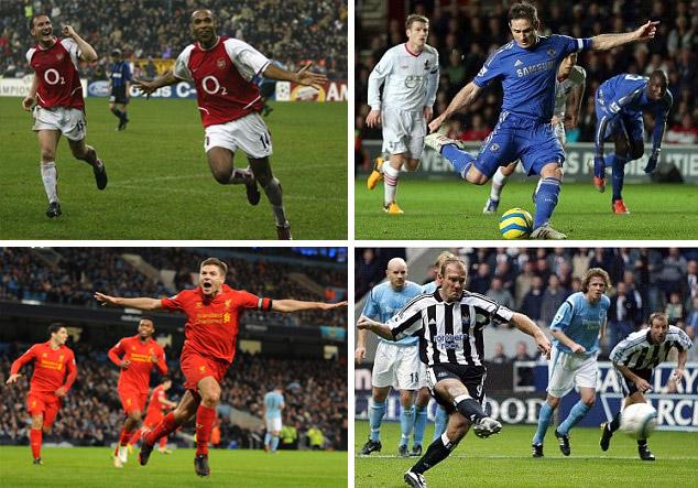 هنري ولامبارد وشيرر وجيرارد أبرز المرشحين للقب أفضل لاعب في تاريخ الدوري الإنكليزي