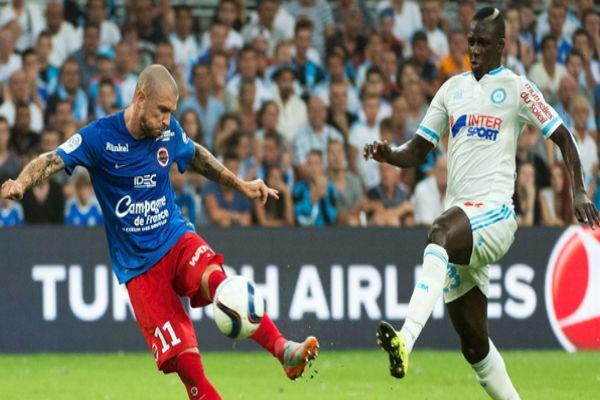 من مباراة مرسيليا وكاين بالدوري الفرنسي