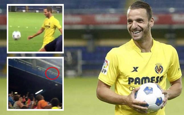 سولدادو يثير سخرية وسخط جماهير فياريال في حفل تقديمه بملعب النادي