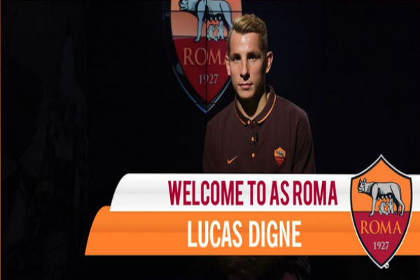 لاعب روما الجديد لوكاس دينيي