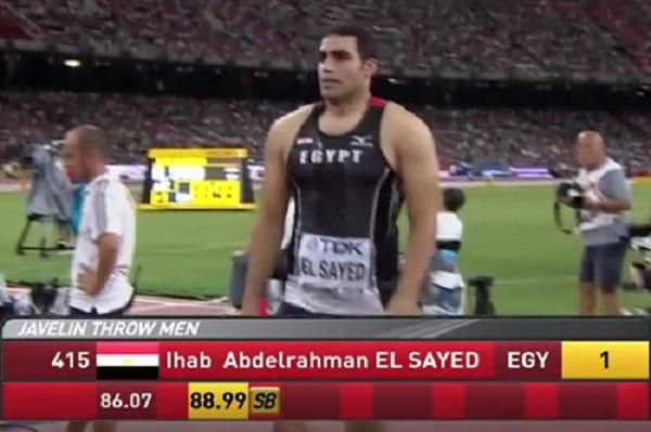 المصري ايهاب عبد الرحمن يحرز فضية مسابقة رمي الرمح
