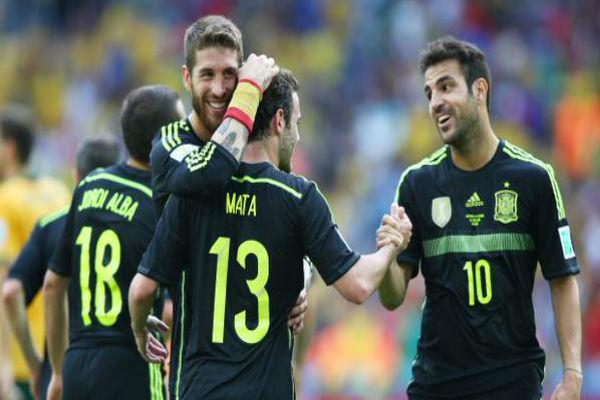لاعبو المنتخب الإسباني