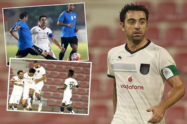 تشافي خاض أول مباراة له بقميص السد القطري