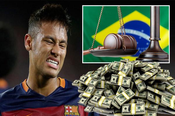 القضاء البرازيلي يجمد 47 مليون دولار من املاك نيمار