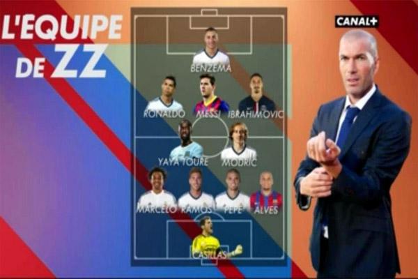 زيدان يختار لاعبين من برشلونة في تشكيلة أحلامه