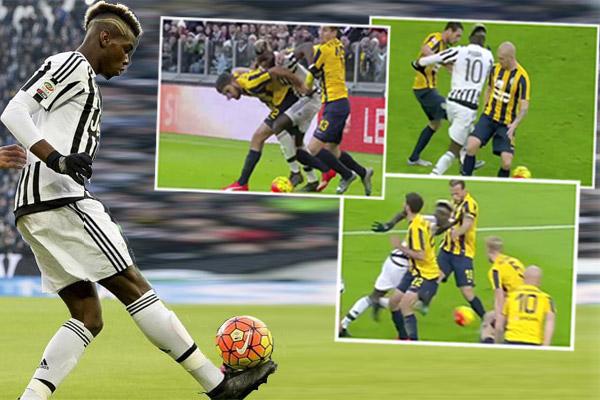 بوغبا يفجر مهاراته في مباراة فريقه أمام هيلاس فيرونا
