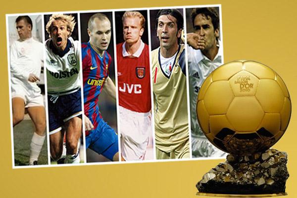 نجوم في كرة القدم حرموا من التتويج بجائزة الكرة الذهبية
