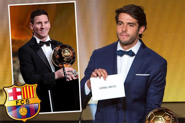 برشلونة كان لا يريد ان يسلم كاكا الجائزة لميسي بصفته لاعب سابق في صفوف ريال مدريد