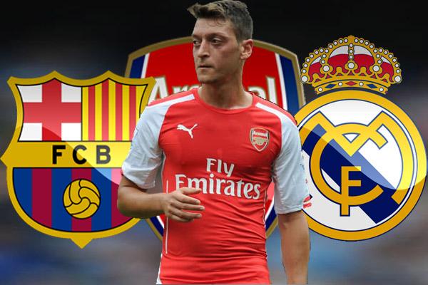 أوزيل لا يستطيع الانتقال إلى برشلونة بسبب شروط ريال مدريد على أرسنال