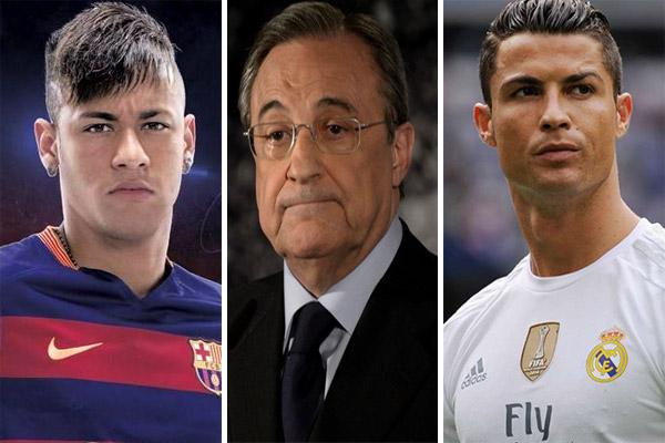 بيريز يرغب التضحية برونالدو من أجل جلب نيمار إلى مدريد