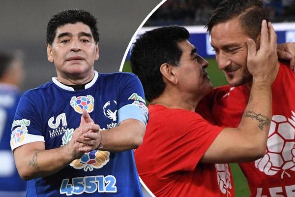 مارادونا يدعو توتي بعدم ترك كرة القدم حتى لا يشعر بالملل القاتل