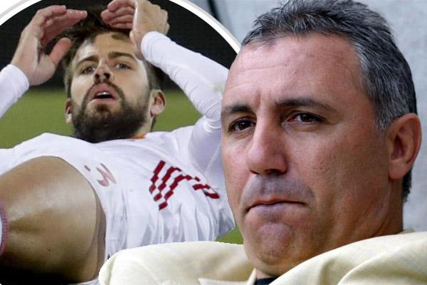 انتقد هيريستو ستويشكوف كل من هاجم المدافع الإسباني جيرارد بيكيه
