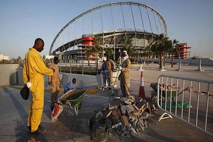 قطر تعلن وفاة عامل في احدى منشآت كأس العالم