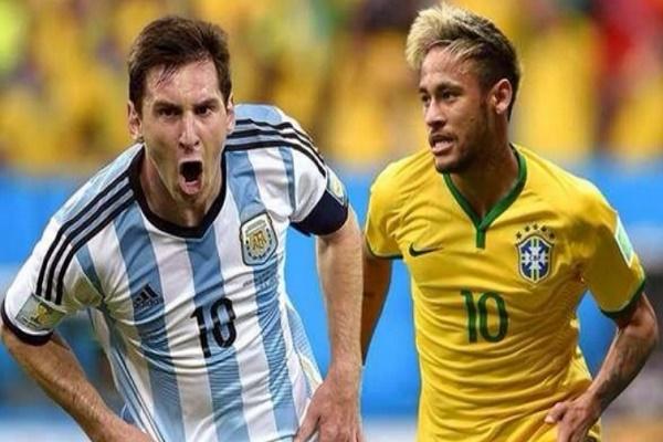 ميسي يواجه نيمار في قمة البرازيل والارجنتين