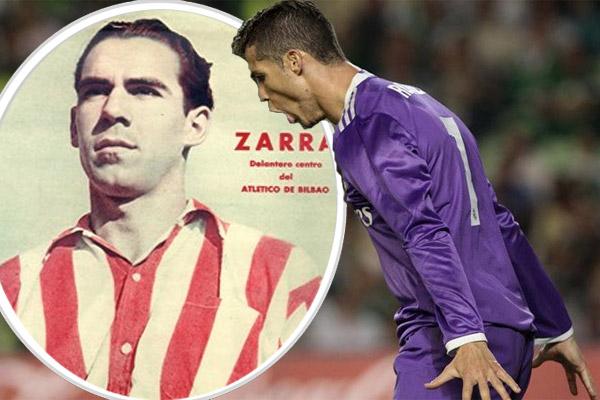 ارتقى المهاجم البرتغالي رونالدو إلى المركز الثاني في ترتيب أفضل الهدافين في تاريخ الدوري الإسباني