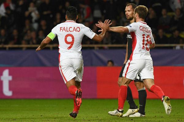 فالكاو يتألق تهديفياً في فوز موناكو على سسكا موسكو