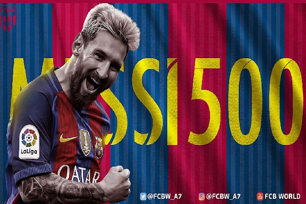 ميسي وصل إلى الهدف الـ500 مع فريقه برشلونة
