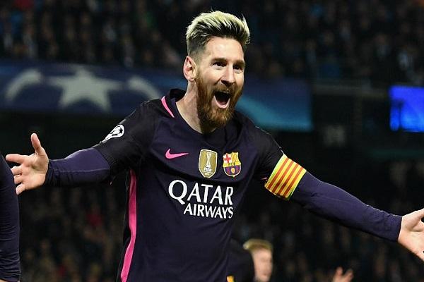 المهاجم الأرجنتيني ليونيل ميسي لاعب برشلونة الإسباني أفضل هداف في دور المجموعات من مسابقة دوري أبطال أوروبا