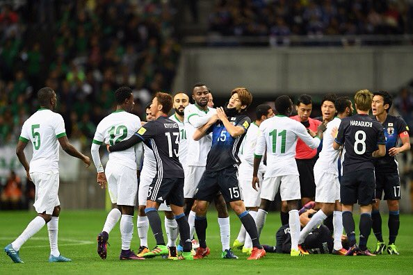 من مباراة اليابان والسعودية