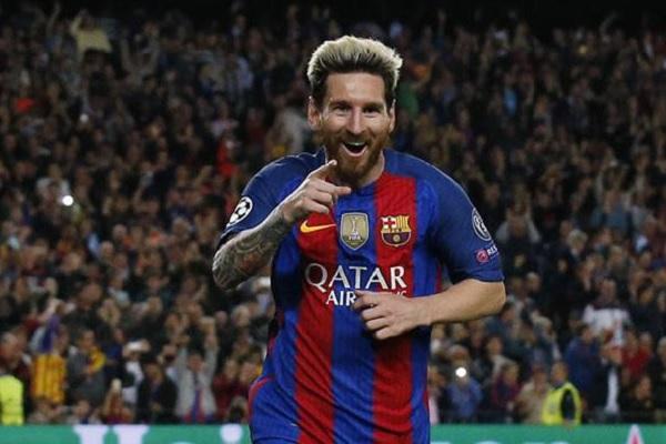 المهاجم الأرجنتيني ليونيل ميسي هداف نادي برشلونة الإسباني