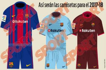 الكشف عن التصميم الجديد لقميص برشلونة للموسم المقبل