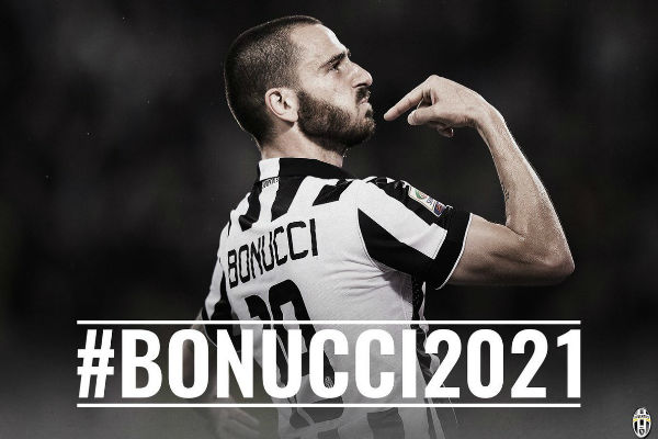 بونوتشي يمدد عقده مع يوفنتوس حتى عام 2021