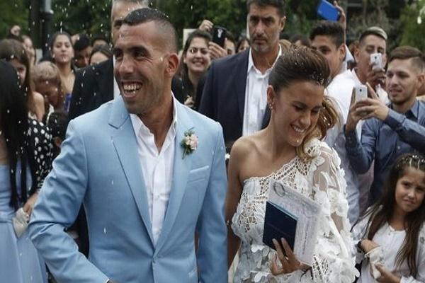 تعرض منزل الأرجنتيني تيفيز للسرقة أاثناء احتفاله بزفافه