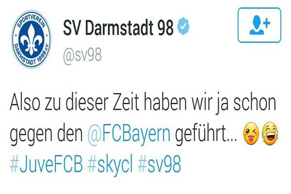 تغريدة درام شتات التي سخرت من يوفنتوس خلال مباراة بايرن ميونيخ