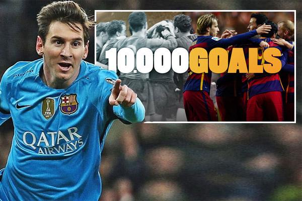 ليونيل ميسي مهاجم نادي برشلونة الإسباني حقق رقماً قياسياً جديداً