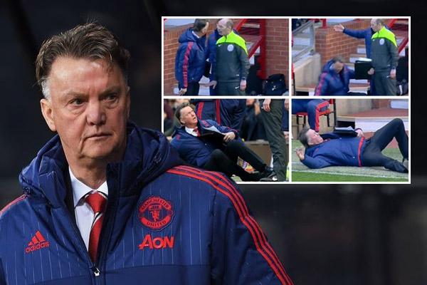 المدرب الهولندي المخضرم لويس فان غال خطف كافة الأنظار خلال مباراة فريقه مانشستر يونايتد