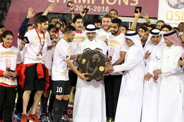 الريان بطلا للدوري القطري لكرة القدم للمرة الاولى منذ 21 عاما
