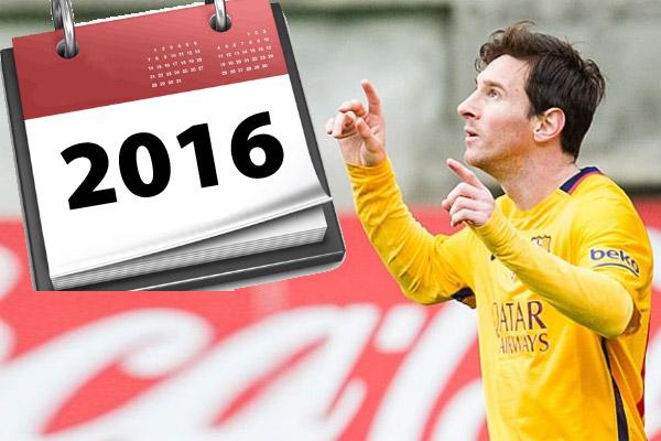 المهاجم الأرجنتيني ليونيل ميسي لاعب برشلونة