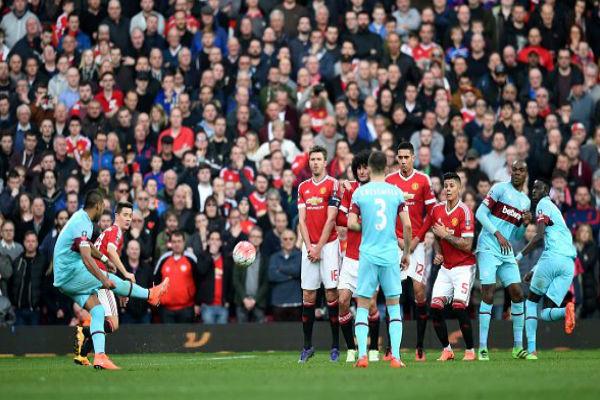 من مباراة مانشستر يونايتد ووست هام يونايتد