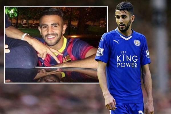 محرز يغازل برشلونة بقميص