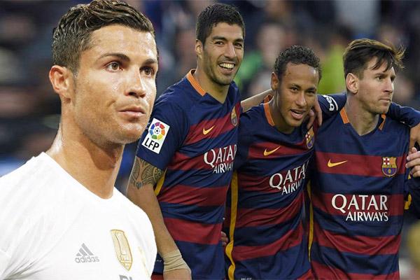 رونالدو يشعر بالغيرة من صداقة ثلاثي برشلونة الهجومي