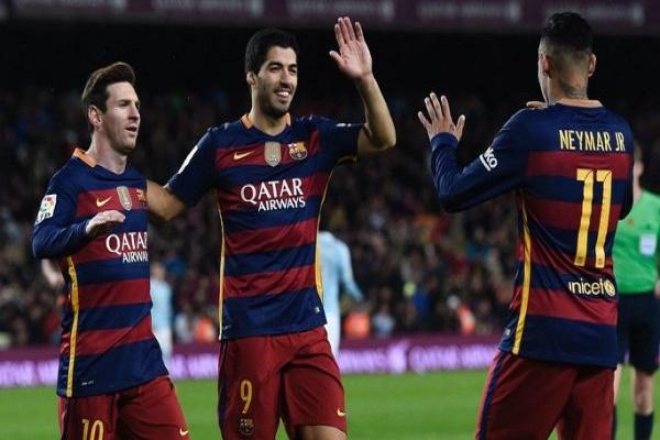 ثلاثي الهجوم لبرشلونة المعروف بإسم