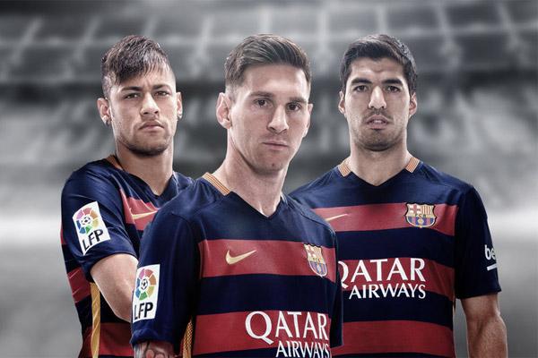 يتكون الثلاثي الهجومي بنادي برشلونة من الأرجنتيني ميسي و الأوروغوياني سواريز و البرازيلي نيمار