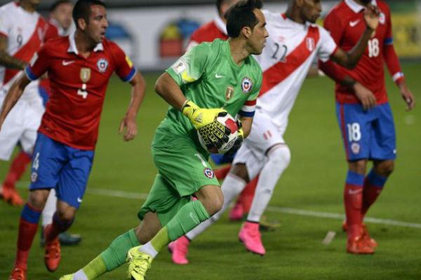 مباراة سابقة لتشيلي ضد البيرو