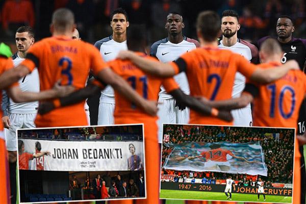 إيقاف ودية هولندا وفرنسا في الدقيقة الـ14 تكريماً لكرويف