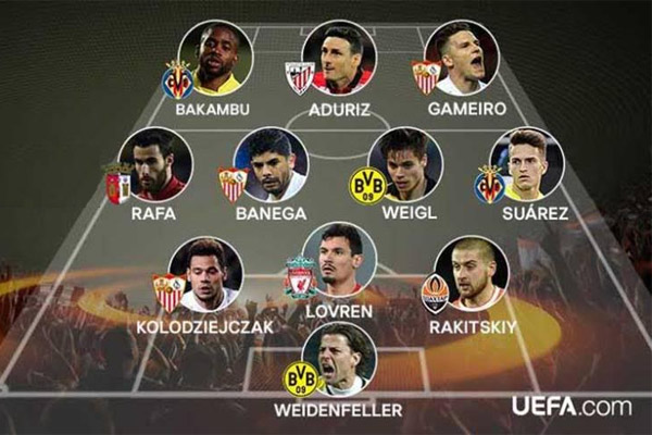 الفريق المثالي لذهاب ربع نهائي الدوري الأوروبي