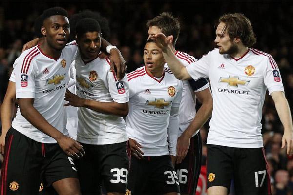 مانشستر يونايتد آخر المتأهلين إلى نصف نهائي كأس الاتحاد الانكليزي