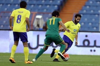 النصر يكتفي بالتعادل مع الخليج في الدوري السعودي