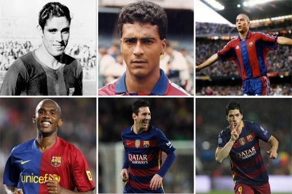 6 لاعبين نجحوا في تسجيل 30 هدفا ضمن صفوف برشلونة في موسم واحد
