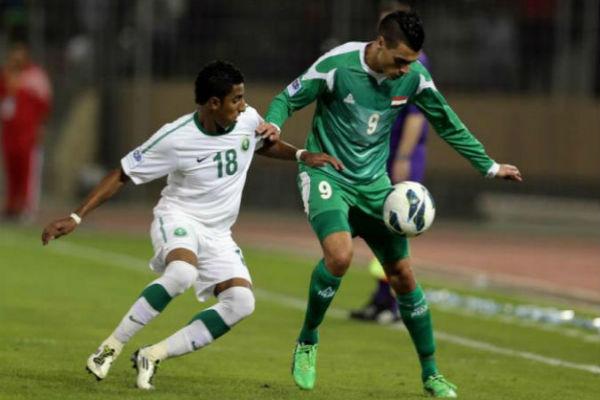 مباراة سابقة بين العراق والسعودية